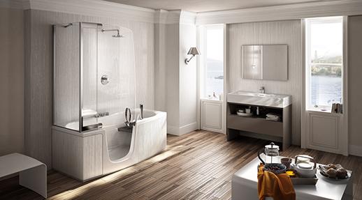 Комбинированные душевые с ванной 2015
