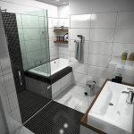 Красивый дизайн маленькой ванной комнаты фото 2014-2015