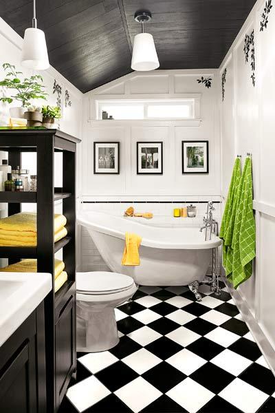 ванная в черно белом цвете для выращивания шампиньона