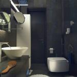 Фото ванной комнаты в тёмных тонах