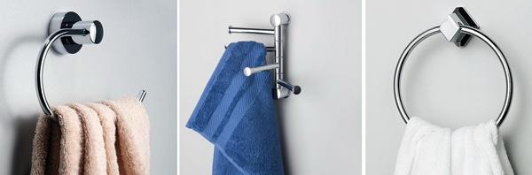 Держатели полоотенец для ванной (поворотные, на шарнирах)