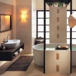 Дизайн маленькой ванной комнаты в японском стиле