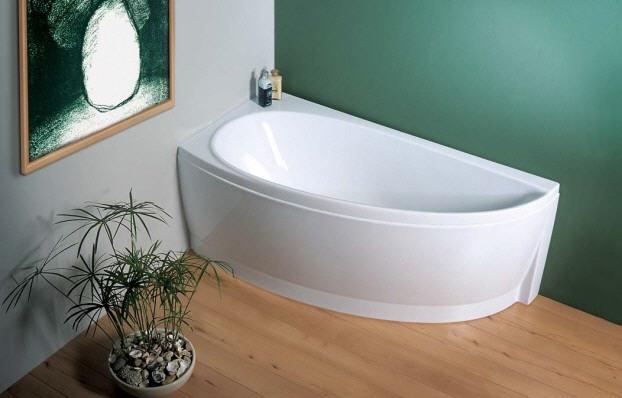 Эргономично вписываемая в квартиру ванна