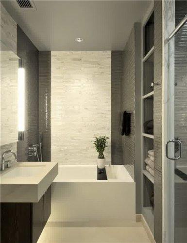 Дизайн маленькой ванной комнаты бежевого цвета