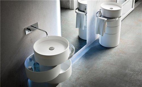 мебель в стиле хай-тек для ванной комнаты
