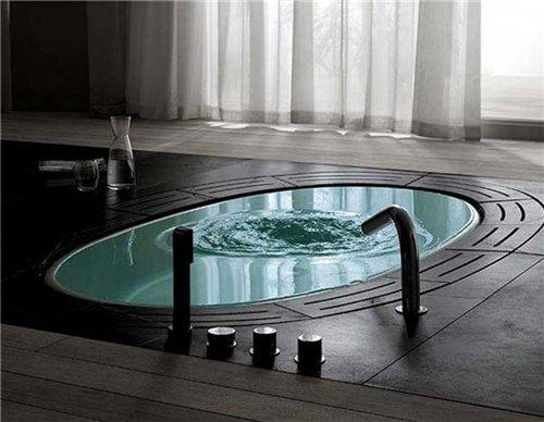 Ванна встроенная в пол хай тек