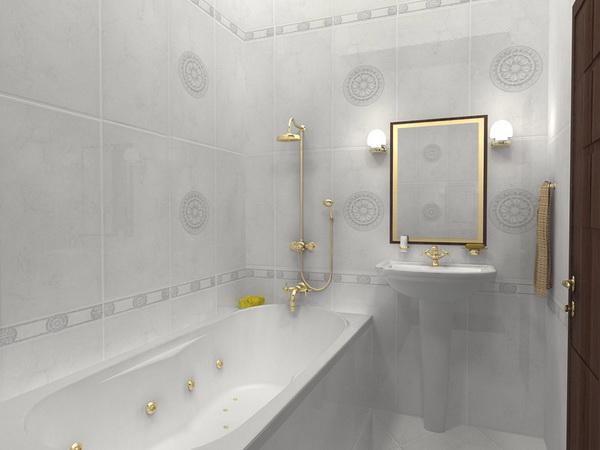 Зеркало в маленькой ванной