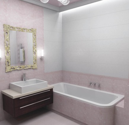 Кафель узоры в маленькую ванную