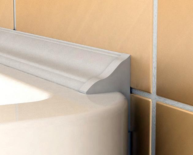 Как заделать зазор 30+ мм между ванной и плиткой