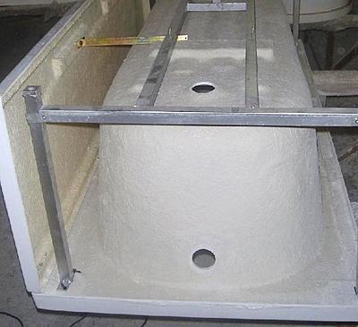 Монтаж ванны на каркас
