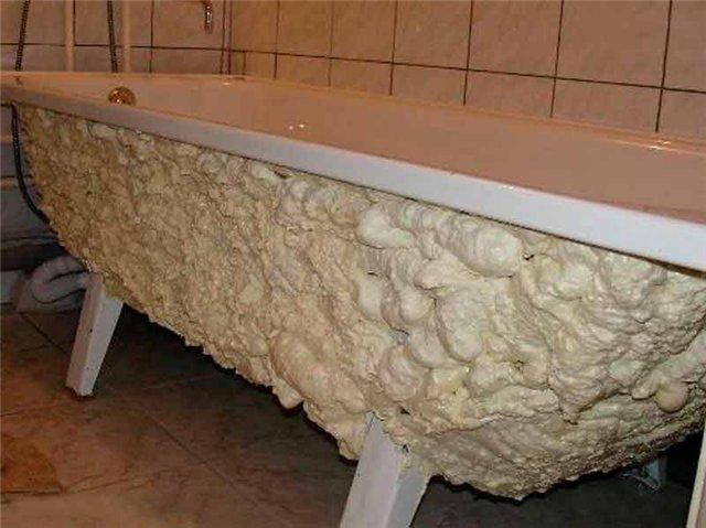 Самостоятельное утепление акриловой или стальной ванны
