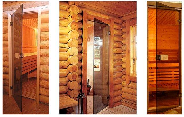 Стеклянная дверь в русскую баню