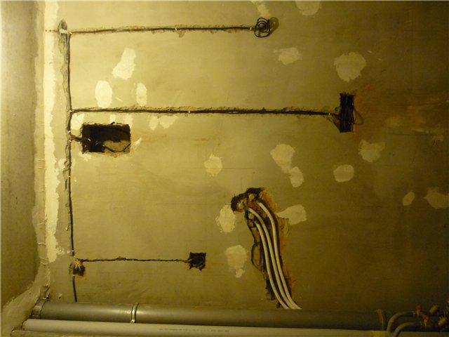 Электрическая проводка в ванной