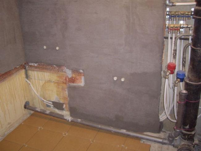 Выравнивание стен при ремонте в ванной