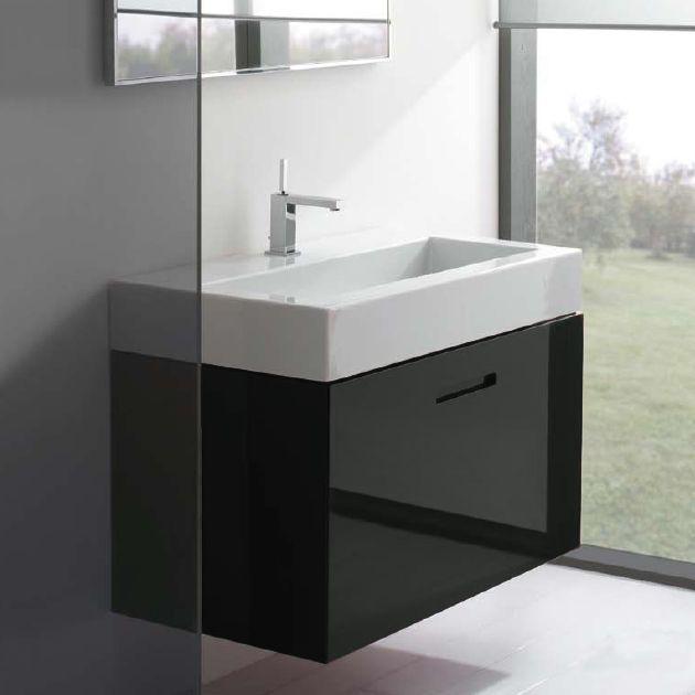 Красивая элегантная раковина для ванной 50х50 см