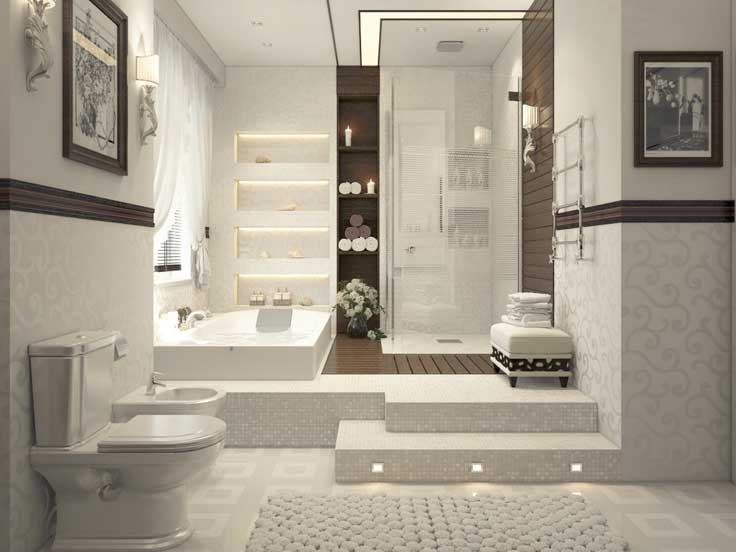 Современная ванная: Стиль модерн
