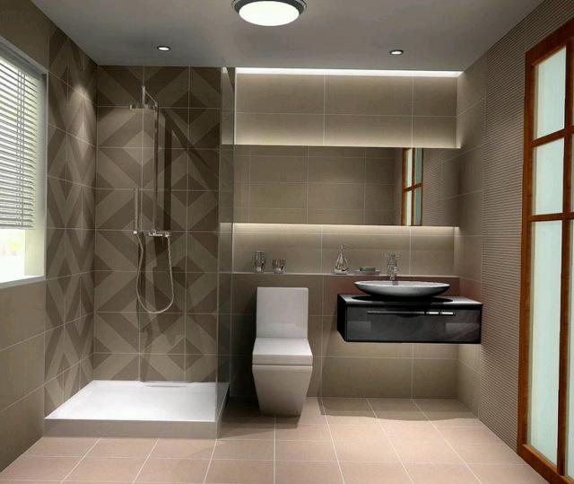 Стиль минимализма - ванная комната