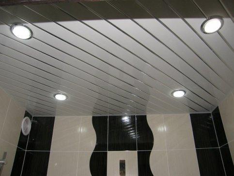 Потолок на алюминиевых рейках (несущих)