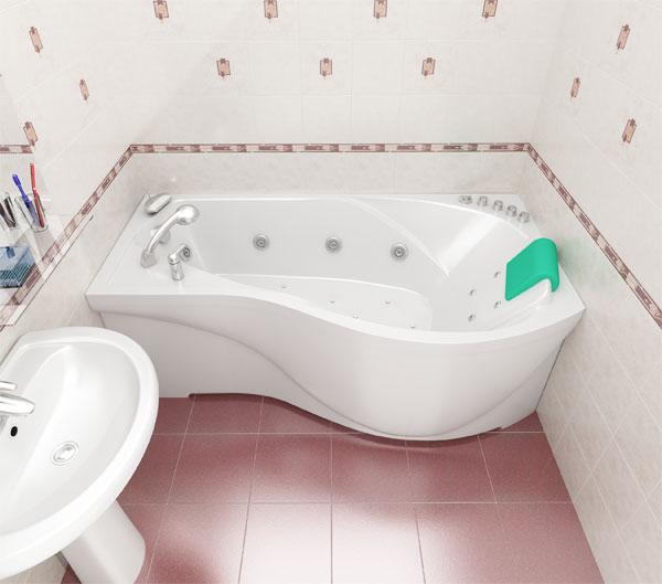 Красивая ванна для маленьких ванных комнат от Тритон