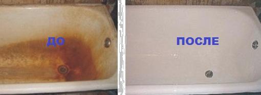Акриловая вставка в ванную: до и после