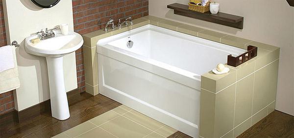 Прямоугольная лежачая акриловая ванна
