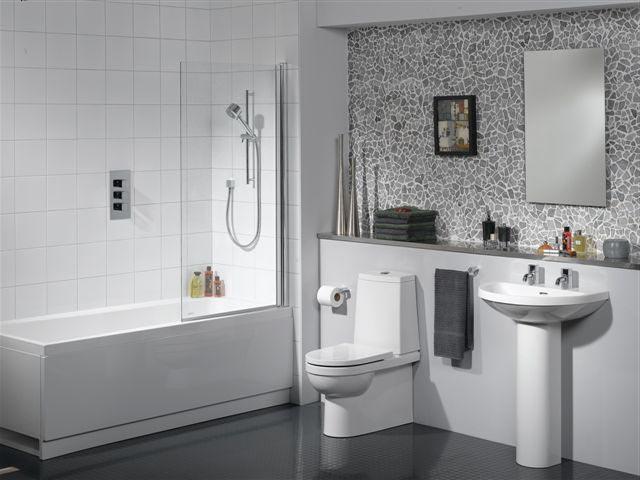 Белая ванная комнаты