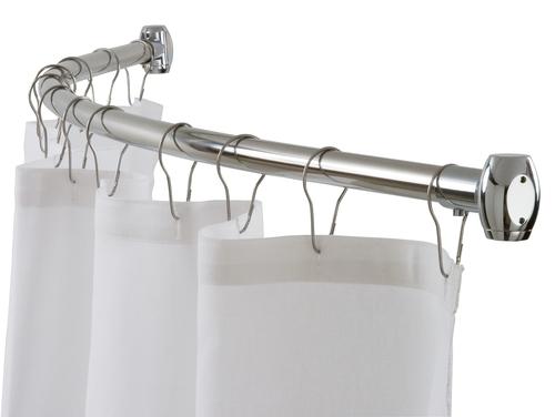Штанга для вашей ванной - крепим шторки