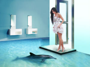 Для того чтобы принять решение, делать ли наливной 3d пол в ванной или нет, нужно детально изучить и проанализировать все положительные и отрицательные свойства такого покрытия