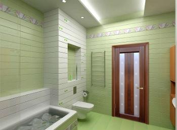 По своим характеристикам, двери в туалет и ванную отличаются от остальных межкомнатных