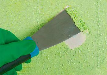Шпатель выбирается в качестве одного из тех средств, чем снять краску со стены в ванной, благодаря своим преимуществам
