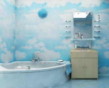 Среди самых недорогих отделочных материалов для стен в ванной комнате стоит отметить ПВХ-панели