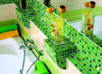 Узкие стеновые панели ПВХ мозаика для ванной имеют соединительные замки