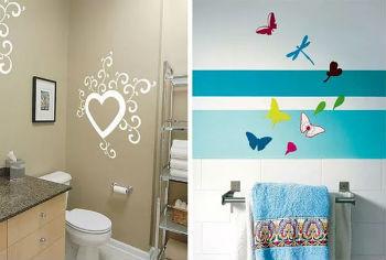Внешний вид ванной комнаты с окрашенными стенами не менее привлекателен, чем у помещения, отделанного с помощью других материалов