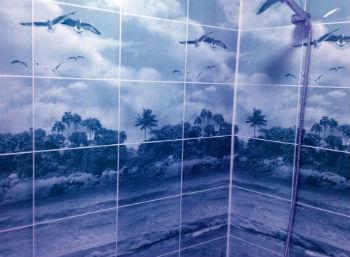 С помощью панелей можно создать в ванных комнатах привлекательный и оригинальный интерьер