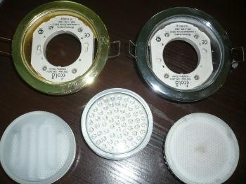 Практически идеальным вариантом во встраиваемых светильниках для натяжных потолков в ванной могут стать светодиоды