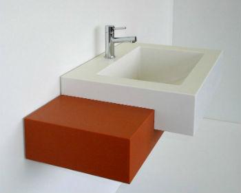 Большинство характеристик раковины в ванную комнату из искусственного камня похожи на параметры натуральных материалов