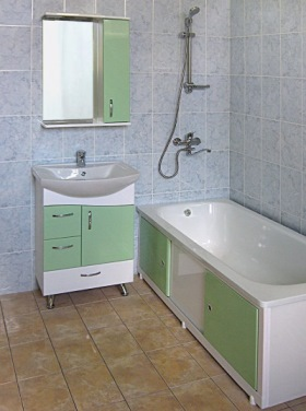 выбор экрана под ванную