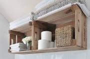 деревянные полки для ванной