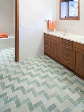 плиточный пол