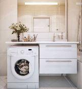 встроить стиральную машинку в тумбу
