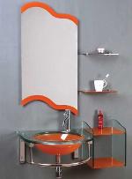 стеклянную мебель для ванны