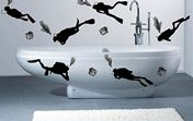 виниловые наклейки для ванной комнаты