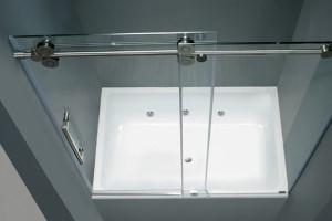 раздвижная шторка в ванную