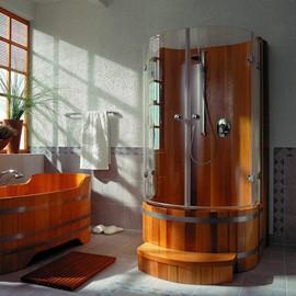 кабина деревянная