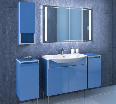 синяя мебель для ванны