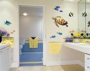 оформить ванную комнату виниловыми наклейками