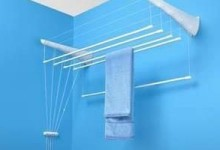 На чем сушить белье в ванной: сушилка-лиана