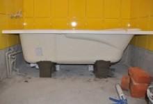 Как закрепить стальную ванну: даем дельные советы
