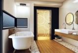 Выбор двери для ванной: материал и производители