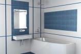 Кафель для ванных комнат: сочетание цветов (фото)